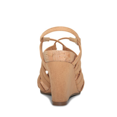 A2 by Aerosoles Womens Poppy Plush Wedge Sandals