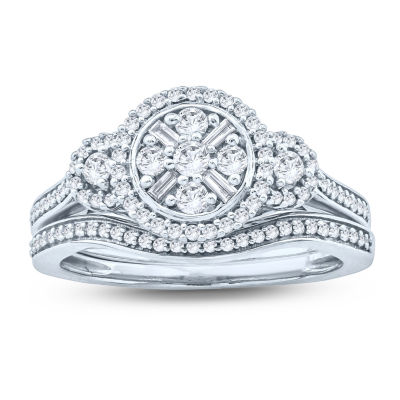 Womens 5/8 CT. T.W. White Diamond 10K Gold Bridal Set