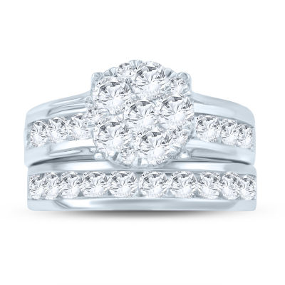 Womens 3 CT. T.W. White Diamond 10K Gold Bridal Set