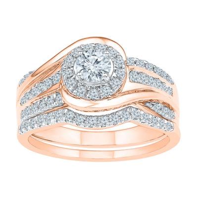 Womens 3/4 CT. T.W. White Diamond 10K Gold Bridal Set