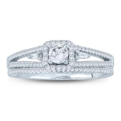 Womens 1/2 CT. T.W. White Diamond 10K Gold Bridal Set