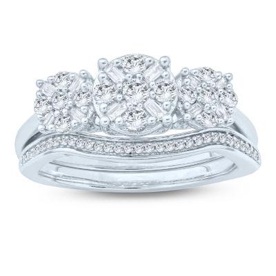 Womens 5/8 CT. T.W. Genuine White Diamond 10K Gold Bridal Set