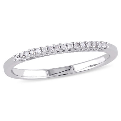Womens Diamond Accent Genuine White Diamond Sterling Silver Wedding Band