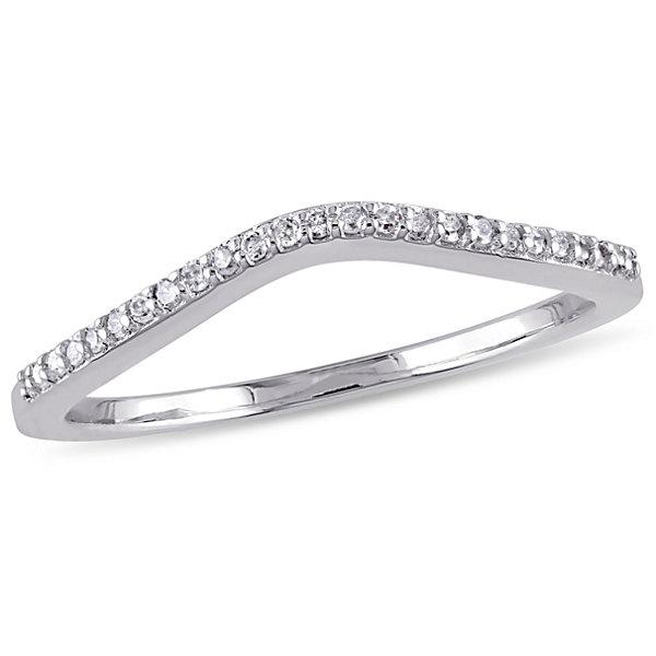 Fine Jewelry Womens 1/10 CT. T.W. White Diamond 10K Gold Band yo3UZ6bwv