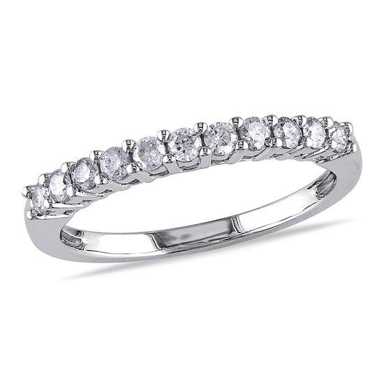 1/3 CT. T.W. Genuine White Diamond 14K White Gold Wedding Band