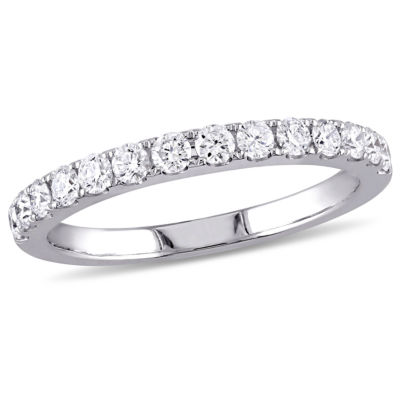 Womens 1/2 CT. T.W. Genuine White Diamond 10K White Gold Wedding Band