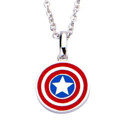 Womens Sterling Silver Marvel Pendant Necklace