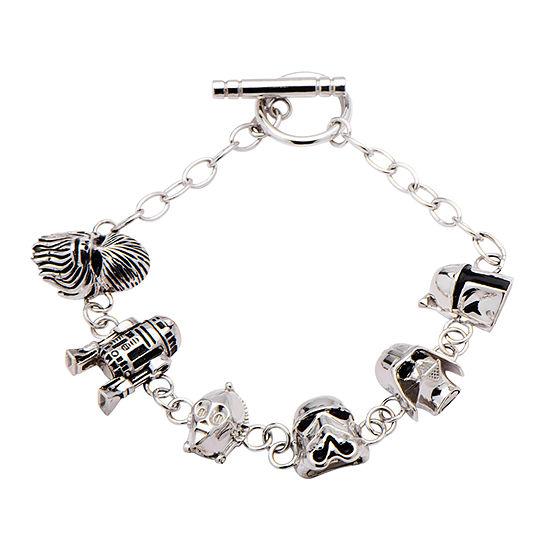 Star Wars® Womens Sterling Silver Charm Bracelet