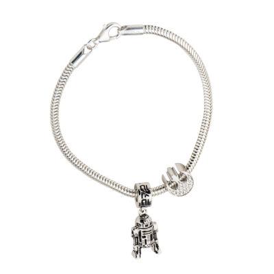 Sterling Silver Star Wars Charm Bracelet