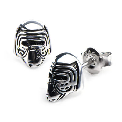 Sterling Silver 9.5mm Star Wars Stud Earrings