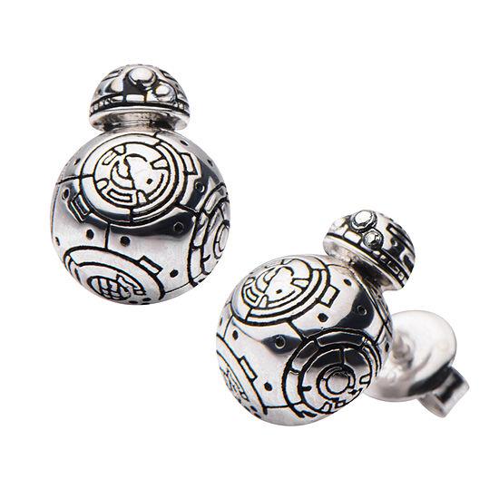 Sterling Silver 12.7mm Star Wars Stud Earrings