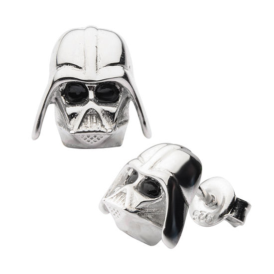 Sterling Silver 10.9mm Star Wars Stud Earrings