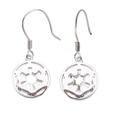 Sterling Silver Star Wars Drop Earrings