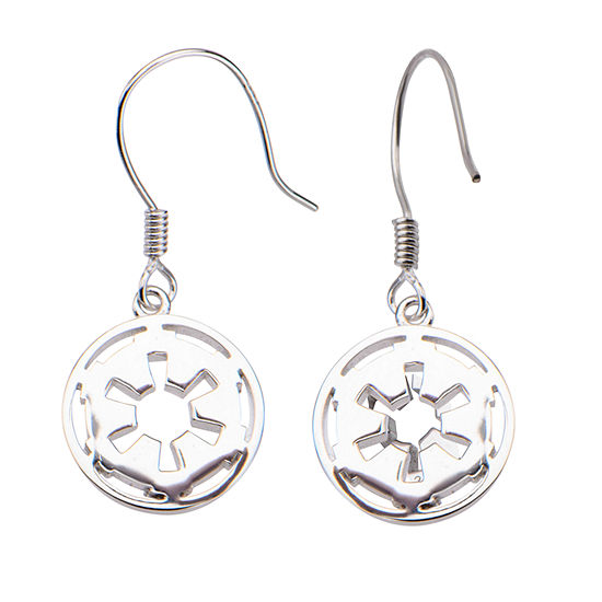 Sterling Silver Star Wars Drop Earrings