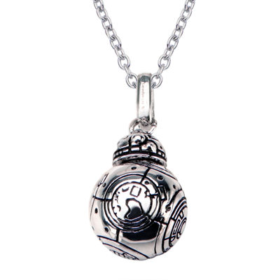 Womens Sterling Silver Star Wars Pendant Necklace