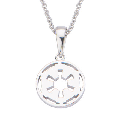 Star Wars® Womens Sterling Silver Galactic Empire Pendant Necklace