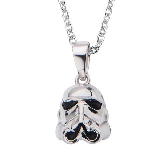 Star Wars® Sterling Silver Stormtrooper Pendant Necklace