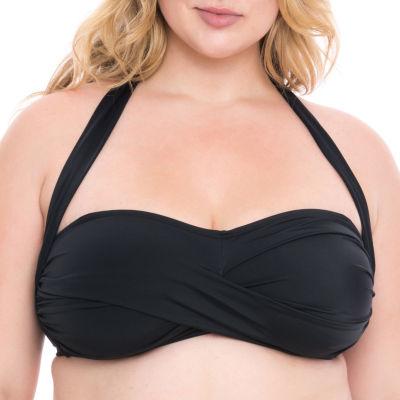 Boutique + Halter Swimsuit Top-Plus