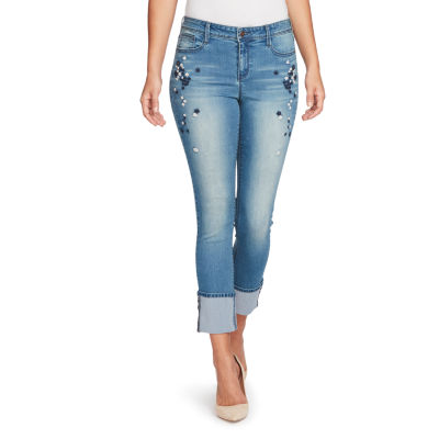 Black Daisy Straight Fit Jean-Juniors