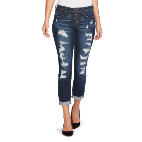 Black Daisy Relaxed Fit Jean-Juniors