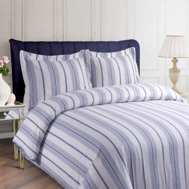 Tribeca Living Stripe Printed 3-pc. Duvet Cover Set