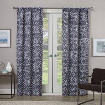 Eclipse Paloma Room Darkening Rod-Pocket Curtain Panel