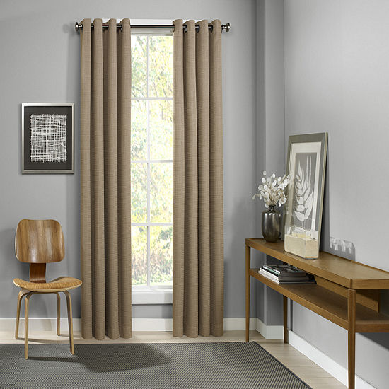 Eclipse Palisade Blackout Grommet-Top Single Curtain Panel