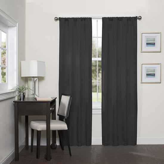 Eclipse Darrell Energy Saving Blackout Rod-Pocket Curtain Panel