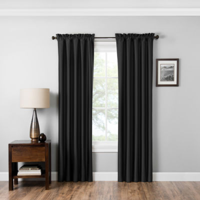 Eclipse® Miles Blackout Rod-Pocket Curtain Panel