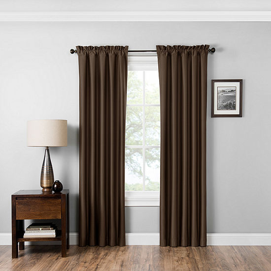 Eclipse Miles Blackout Rod-Pocket Curtain Panel
