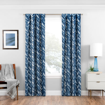 Eclipse® Haley Blackout Rod-Pocket Curtain Panel