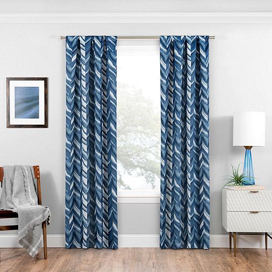 Eclipse® Haley Blackout Rod-Pocket Curtain Panel