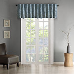 Madison Park Eliza Faux Silk Rod-Pocket Tailored Valance