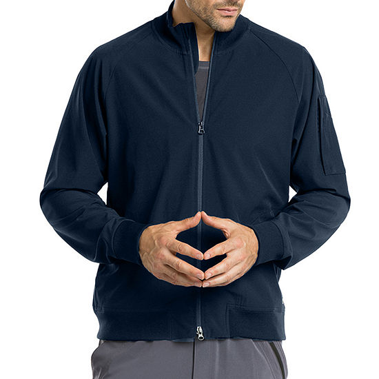 Barco® One™ 0405  Men's Mock Neck Zip Bomber Scrub Jacket-Big