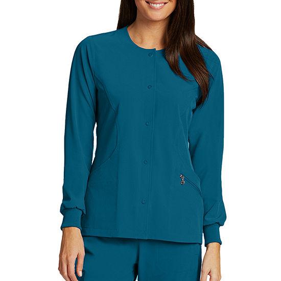 Barco® One™ 5409 Women's Perforated Princess Warm-Up Scrub Jacket - Plus