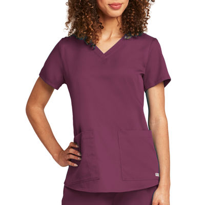 Barco™ Grey's Anatomy Women's 71166 Two Pocket V-Neck Scrub Top with Shirring Back