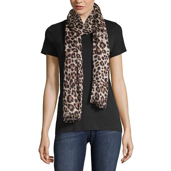 Liz Claiborne Pashmina-Style Leopard Scarf