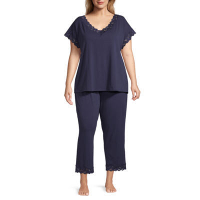 Liz Claiborne® Plus Size Lace Trim Capri Set