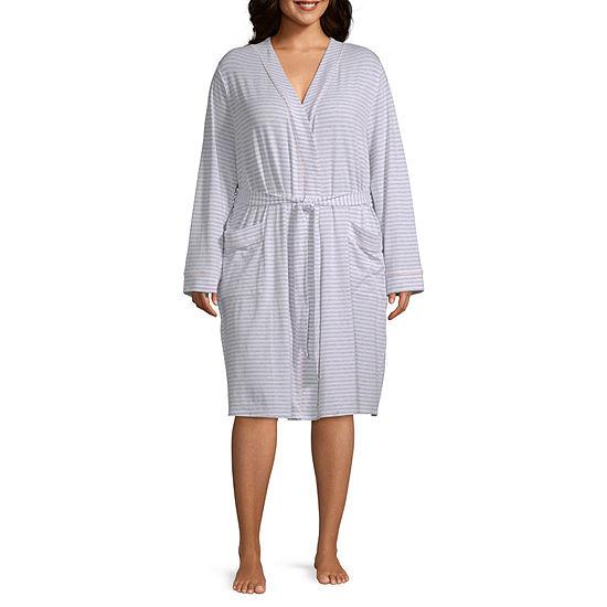 602c0201f4 Liz Claiborne® Plus Size Essential Knit Robe - JCPenney