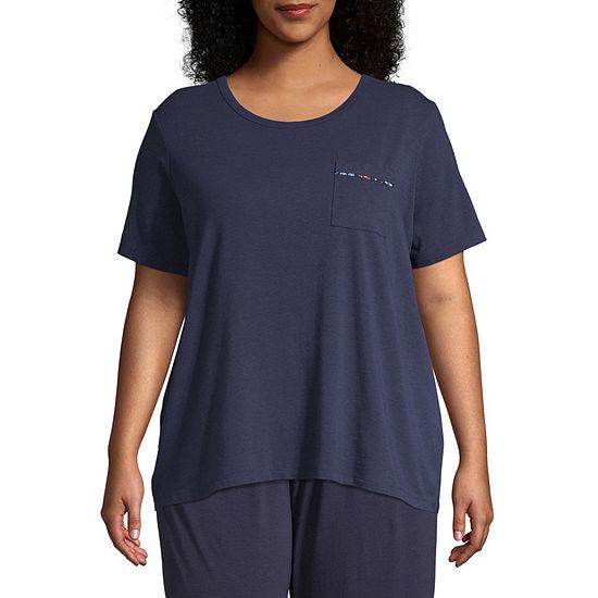 Liz Claiborne® Plus Size Essential Knit Tee