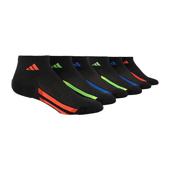 adidas 6 Pair Quarter Socks Boys Big Kid