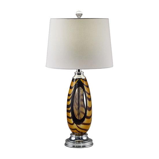 Dale Tiffany Butterscotch Art Glass Table Lamp