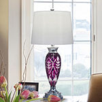 Dale Tiffany Mulberry Lead Handcut Crystal Table Lamp