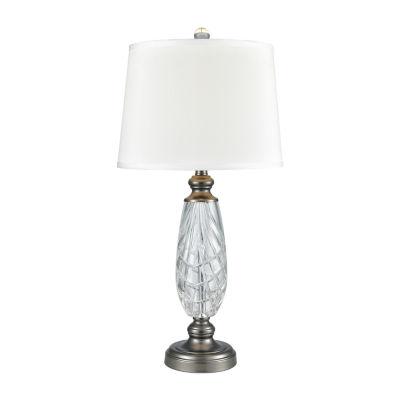 Dale Tiffany Henri 24% Lead Handcut Crystal Table Lamp