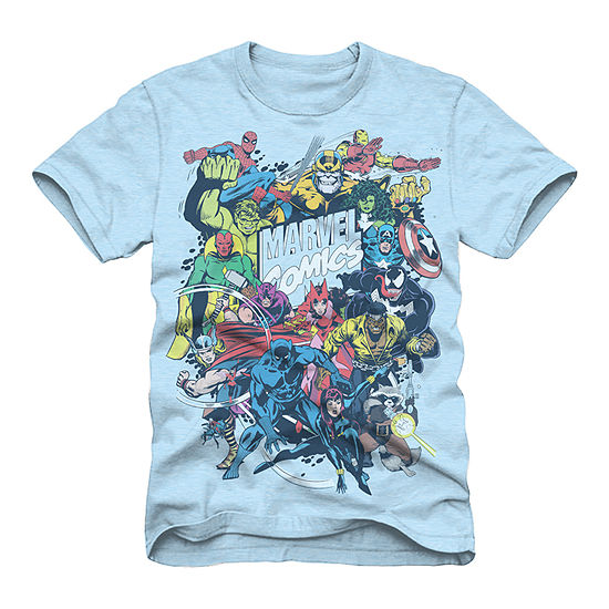 Mens Marvel Comic Graphic Tee