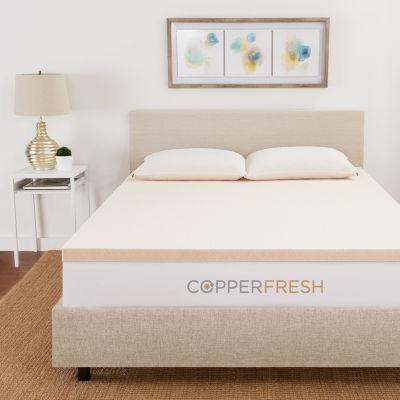 "Copperfresh 2"" Gel Memory Foam Mattress Topper"