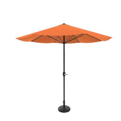 Pure Garden 9 Ft. Easy Crank Patio Umbrella