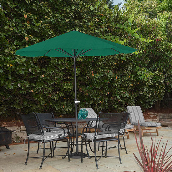 Pure Garden 9 Ft. Easy Crank Patio Umbrella