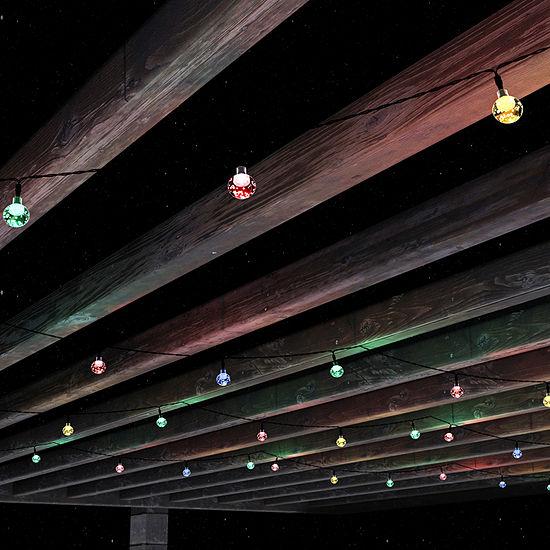 Pure Garden Ourdoor Round Multicolor Solar String Lights