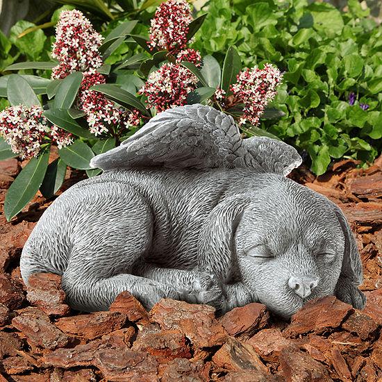 Pure Garden Sleeping Angel Dog Keepsake Memorial Statue